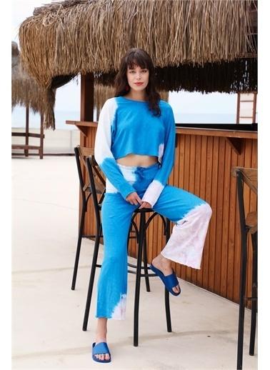 Latin Quarter Batik Desenli Oversize İkili Takım Mavi